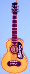 "Mini Spanish Guitar Ornament - Wood, 4"" Small #HI580"