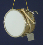 "Mini Bass Drum Ornament - 3"" Marching Drum #HI601"
