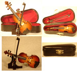 "Mini Violin Gift Set, 4 pc - 4"" Small #HI604"