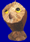 "Buri Animal Owl Ornament, 4 1/2"", #JW627"