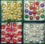 "Miniature Christmas Ornaments plus 5 1/2"" Mini Tree Topper, 15 pc Set, 1 1/8"", #KAGG0323"
