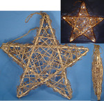 "Large Grapevine Star Decor, Tree Topper, Indoor Only, 20 Lights, 13 x 13"", #KAUL1214"