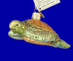 "Sea Turtle Glass Ornament, 1 1/2 x 3 3/4"", OWC #12167"
