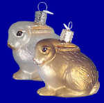 Cottontail Bunny Old World Christmas Glass Ornament 12192