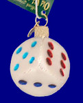 Dice Old World Christmas Glass Ornament 44026