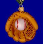 """Baseball Mitt Glass Ornament, 3 3/4"""", OWC #44027"""