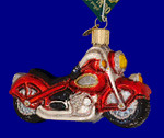 "Motorcycle Glass Ornament, 2 5/8 x 4"", OWC #46008"
