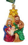 Holy Family Nativity Star Glass Ornament by Old World Christmas 10132