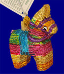 "Mexican Pinata Glass Ornament, 2 3/4"", OWC #44025"