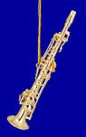 "Mini Soprano Saxophone Ornament - Gold Metal, 3 1/4""  Medium #HI566"