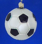 "Soccer Ball Glass Ornament, 3 1/4"", OWC #44012"