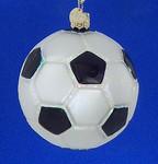 Soccer Ball Old World Christmas Glass Ornament 44012