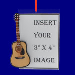 Picture Frame Acoustic Guitar Gift Christmas Ornament