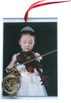 Music Instrument French Horn Picture Frame Ornament