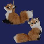 Furry Red Fox Ornament