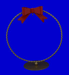 Round Braided Ornament Stand - gold plated