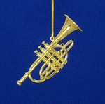 "Mini Cornet Ornament - Gold Metal, 2 3/4"" Medium #BG2338"