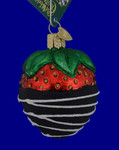Chocolate Dipped Strawberry Old World Christmas Glass Ornament 28116