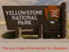 Yellowstone National Park Entrance Sign