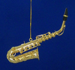 "Mini Alto Saxophone Ornament - Gold Metal, 5"" Medium #BG2311"