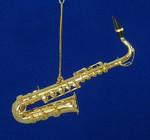 """Mini Tenor Saxophone Ornament - Gold Metal, 5"""" Large #BG2313"""