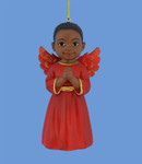 African American Little Boy Angel Ornament