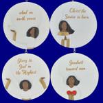 Christian theme Black Angel Ornaments