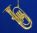 "Mini Baritone Tuba Ornament - Gold Metal, 2 7/8"" Medium #BG2322"