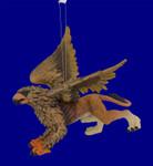 "Griffin Mythical Ornament, 4 x 4"", break resistant, SL8489"