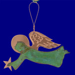 Verdigris Copper Angel Ornament