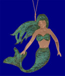 Verdigris Copper Mermaid Ornament