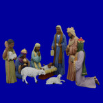 Ebony Black Nativity Set