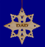 Laser Wood Dad Ornament