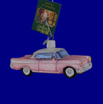 Classic Car 57 Chevy Glass Ornament