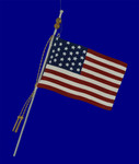 aluminum USA flag ornament