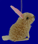 buri pink ear rabbit ornament