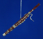 "Mini Bassoon Ornament - Wood, 6 7/8"" Large #BG2336"