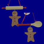 Gingerbread Cookie Utensils Ornaments