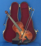 Violin 4 pc Gift Set  Decor Wood Bow Case Stand 7.75 Large