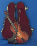 Mini Cello 4 pc Gift Set Decor Bow Case Stand 8 Large