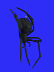 Black Widow Spider Ornament inset 2