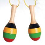"""Mini Maracas Ornament - 5 """" - Multi-color Striped #BG2633"""