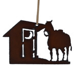 Rustic Steel Western Outhouse Ornament