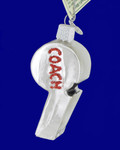 Coach Whistle Glass Ornament by Old World Christmas 36205