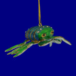 Blue Green Crab Cloisonne Ornament