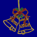 Christmas Bells Enabled Ornament inset back