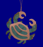 copper crab ornament by Korman