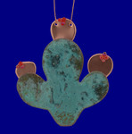 Prickly Pear Cactus Copper Ornament Korman