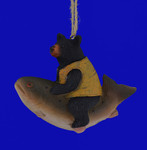 Fish with Black Bear Ornament