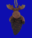 Moose Pinecone Ornament